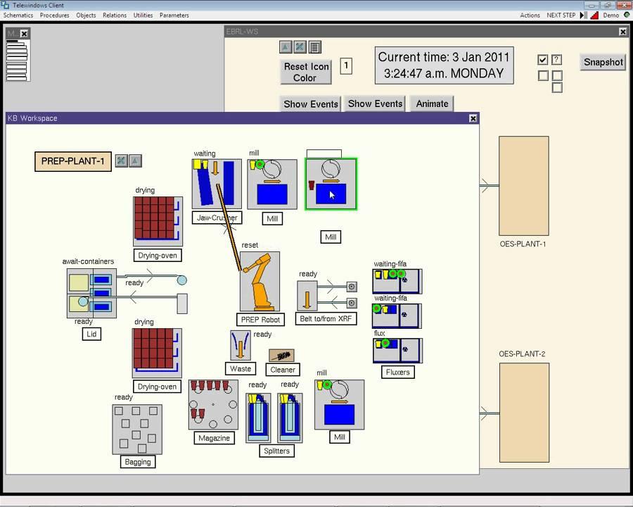 Simulation of a robotics laboratory - YouTube