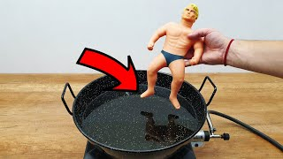EXPERIMENT Stretch Armstrong in 300° HOT Oil
