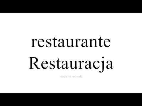 Ucz Się Hiszpańskiego   Restauracja