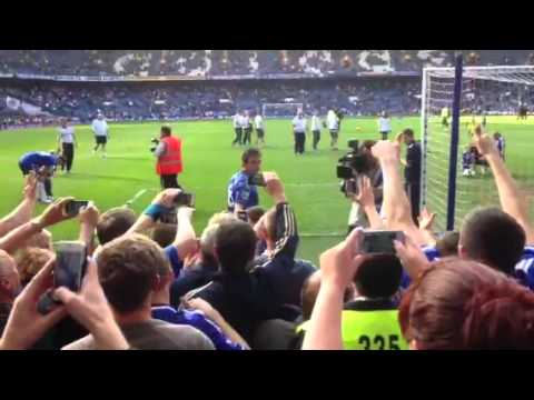 John Terry thanking the fans at end of Everton game