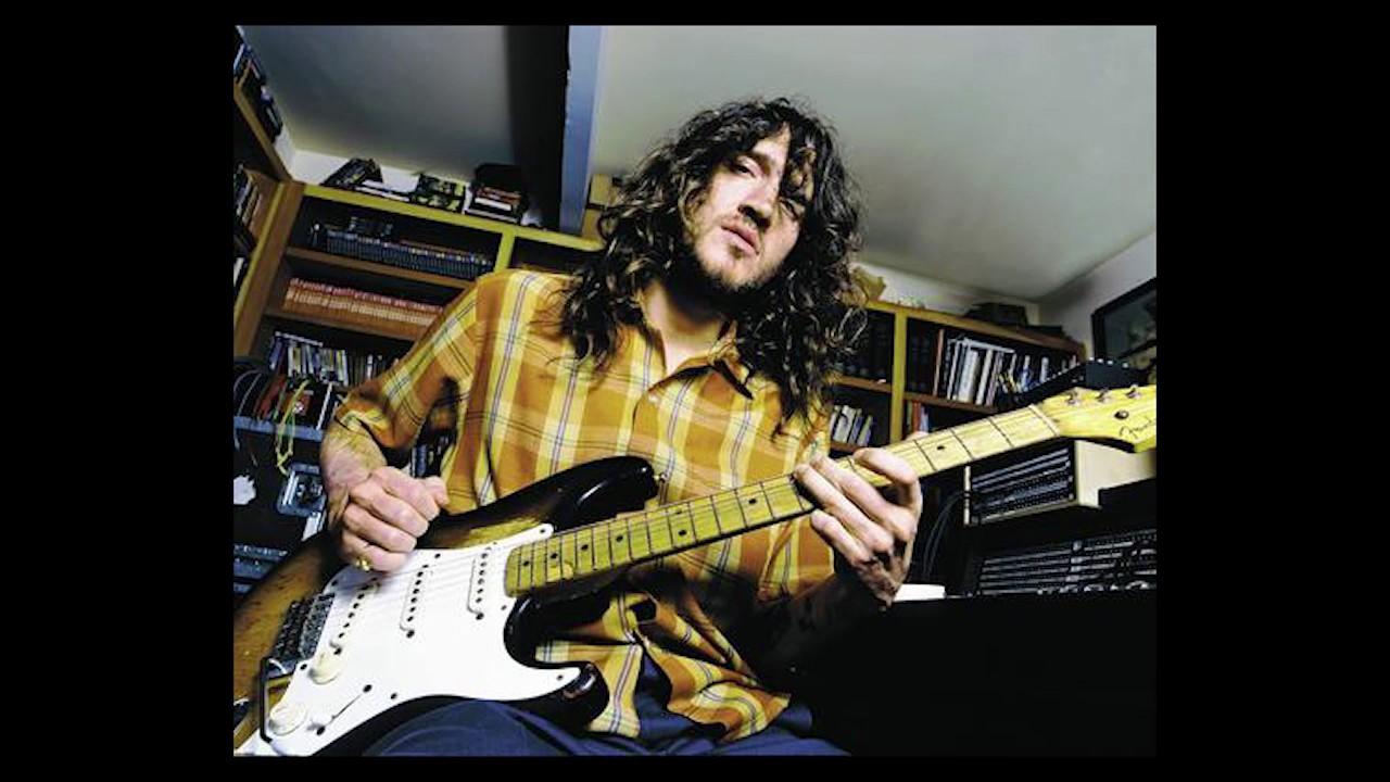 John frusciante white guitar