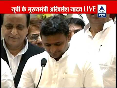 We will try to satisfy Mulayam Singh Yadav with our work: Akhilesh