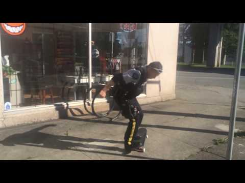 Police Officer Skateboarding