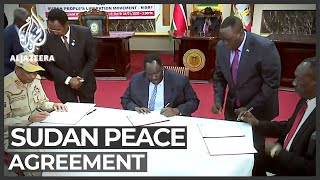 Sudan's government signs peace deal with rebels