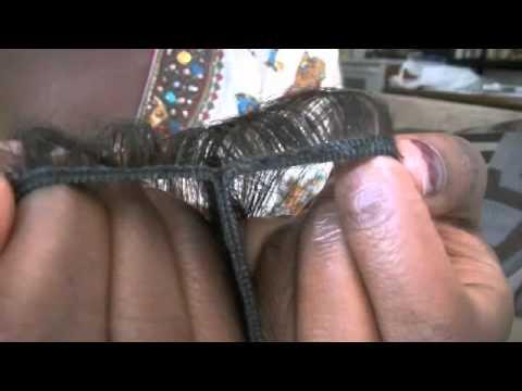 DIY: spiltting weave wefts