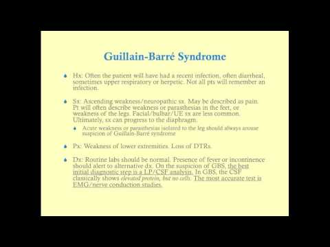 Guillain-Barré Syndrome - CRASH! Medical Review Series thumbnail