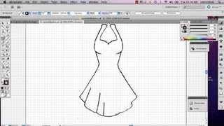 How to Create Pleats on a Dress in Illustrator : Adobe Illustrator