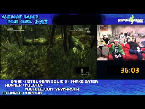 Metal Gear Solid 3: Snake Eater - Speed Run in 1:29:12 by Molotov live for AGDQ 2013
