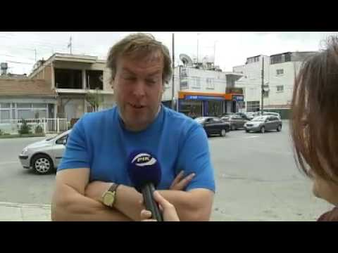 Cyprus bailout Man threatens bank with bulldozer