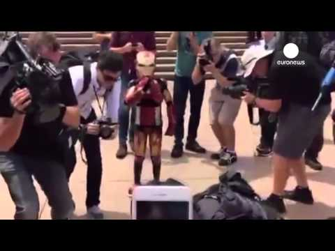 """Heartwarming footage: Sick kid becomes """"Ironboy"""", saves Sydney from evil Ultron"""