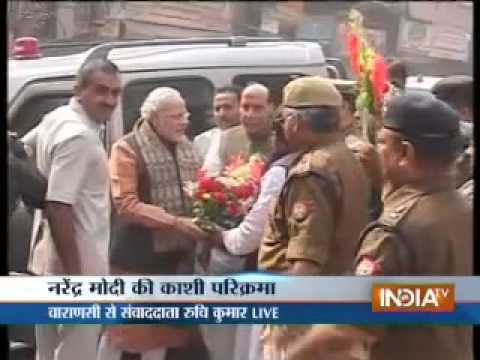 Modi visited Sankatmochan temple in Varanasi under tight security...