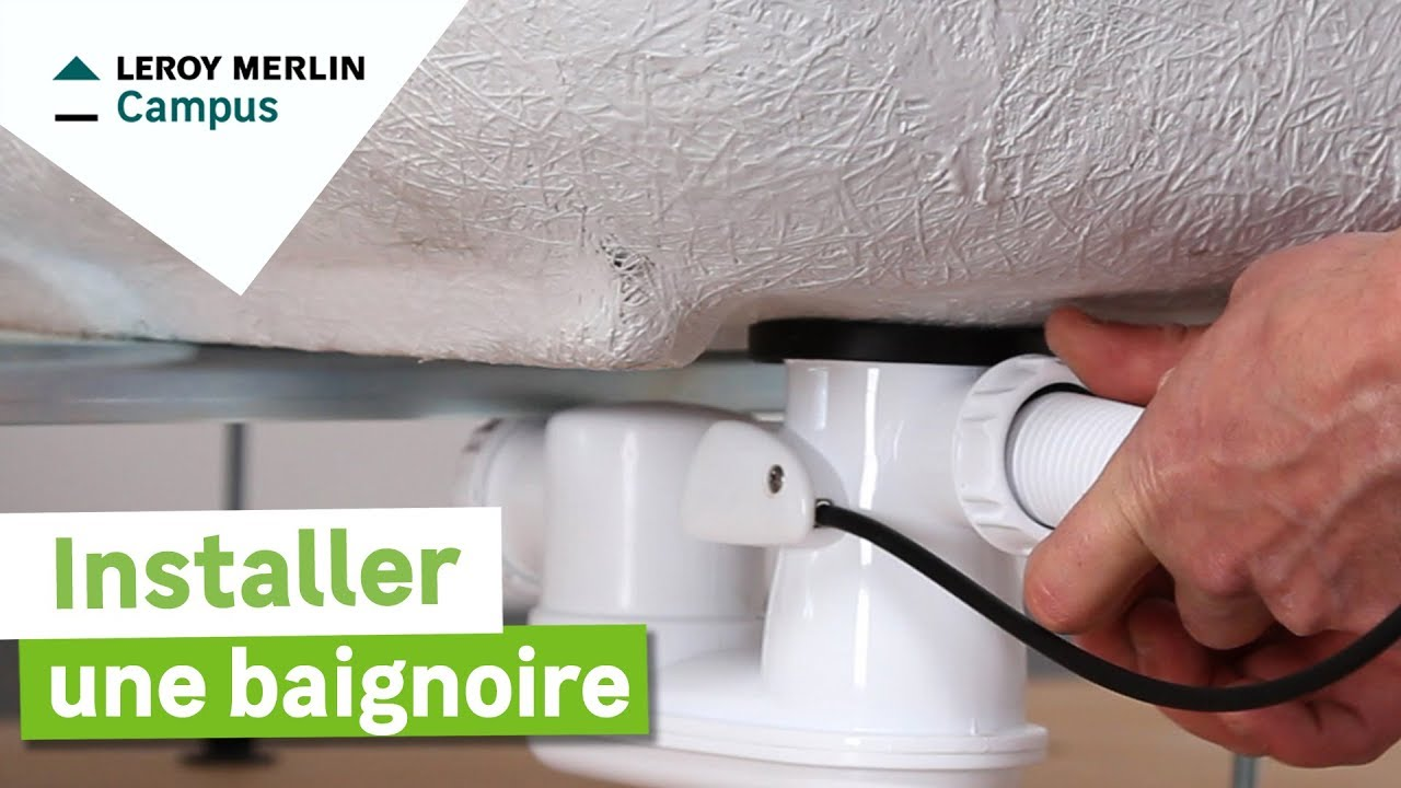 Comment installer une baignoire leroy merlin youtube for Comment installer une salle de bain