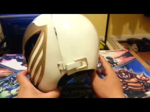 MMPR White Ranger Helmet & Shield Finished!
