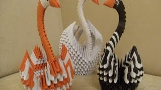 Origami 3d - Swan - How To Make Instructions