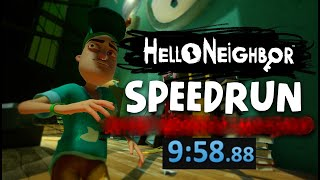 Hello Neighbor PC Any% Speedrun [9 Minutes]
