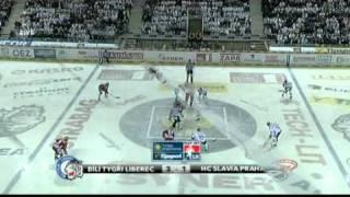 HC Bílí tygři Liberec - HC Slavia Praha 3:4 - 7. čtvrtfinále 2011