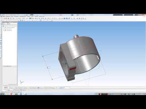 Компас 3D - простановка размера на детали в сборке (DEMO)