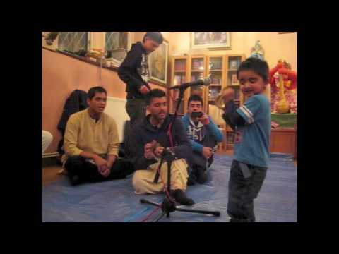 Iskcon Coventry 3 Year Old Leads Kirtan 2 2 video