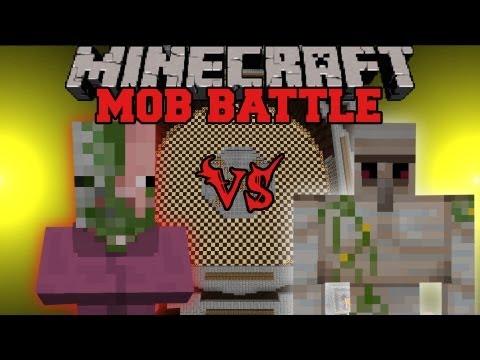 Iron Golem Vs. Pig Mage - Minecraft Mob Battles