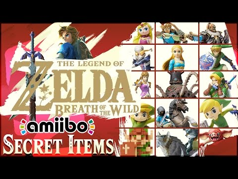 The Legend of Zelda: Breath of the Wild - ALL 15 Amiibo Unlockables + SECRET ITEMS!