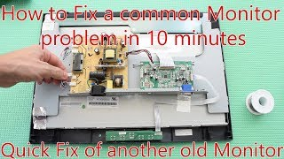 How to fix Monitor with most Common Problem. Fixing another ViewSonc Monitor in 10 minutes