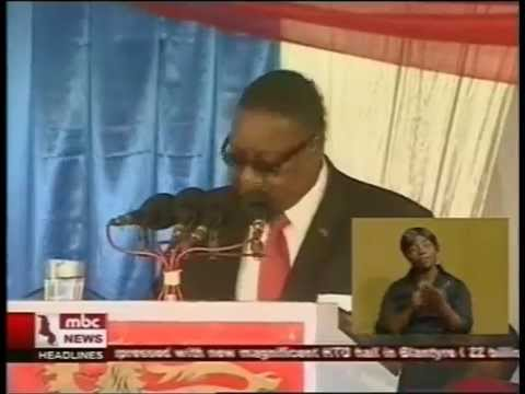 Malawi President Peter Mutharika Opens The HTD Motor City Complex  13 November 2014