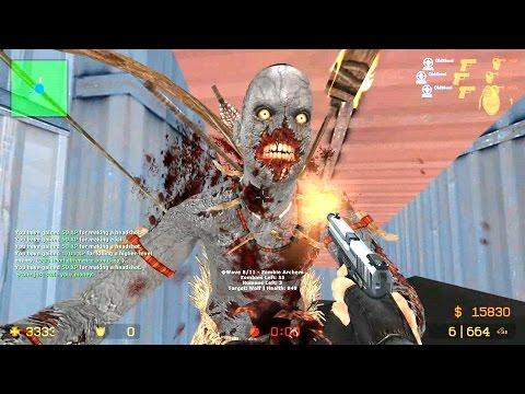 Counter Strike Source - Zombie Horde mod online gameplay on Lila Panic map