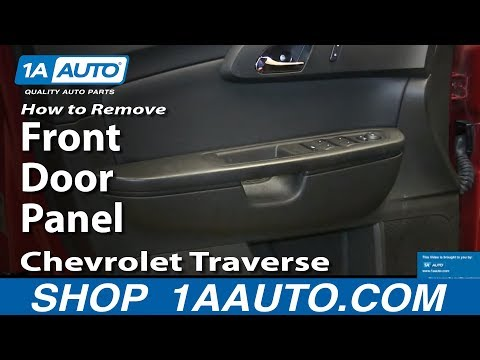 How To Remove Install Front Door Panel 2009-13 Chevrolet Traverse