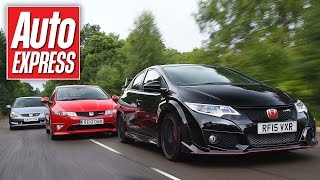 Honda Civic Type R battle: EP3 & FN2 take on the 2015 car