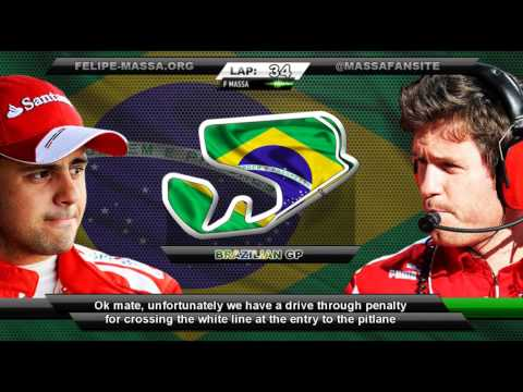 Felipe Massa and Rob Smedley team radio, Brazil 2013