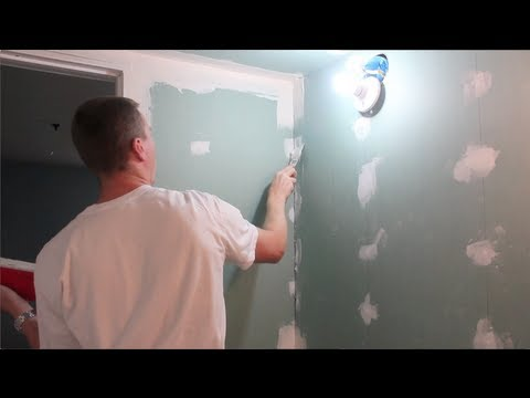 How to Mud and Tape Drywall - Part 1 of 2 (HD) - Mudding and Taping
