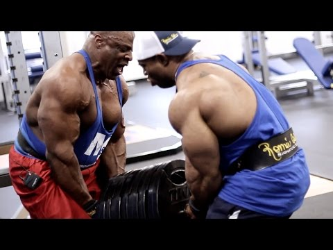 Ronnie Coleman & Cory Mathews Kill Back & Biceps At Muscle & Strength Gym video