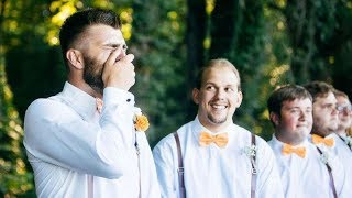 Look At This Groom's Tearful Reaction To Seeing His Bride Walk Down The Aisle | Southern Living