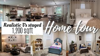 *New* updated House tour | Realistic small home tour | 1200 sqft home | budgetfam