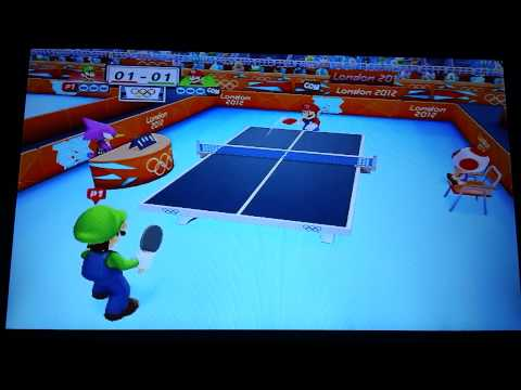 Mario and sonic at the london 2012 olympic games table tenis