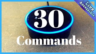 30 Favorite Alexa Commands that I use on a daily basis to make life more accessible  #LiveAccessible