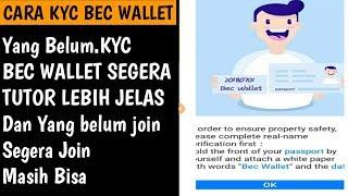 Cara KYC Airdrop Bec Wallet ||Masih Bisa daftar Dan Join