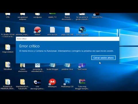errore critico start e cortana windows 10