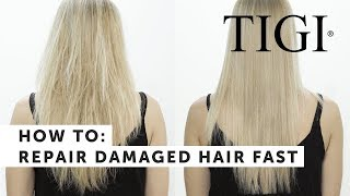 How to: Repair Severely Damaged Hair Fast | TIGI Copyright SOS Treatment | TIGI Copyright