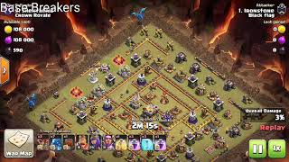 Electro dragon's attack strategy used by th12 player against of Max th11 war base clear with 3 star.
