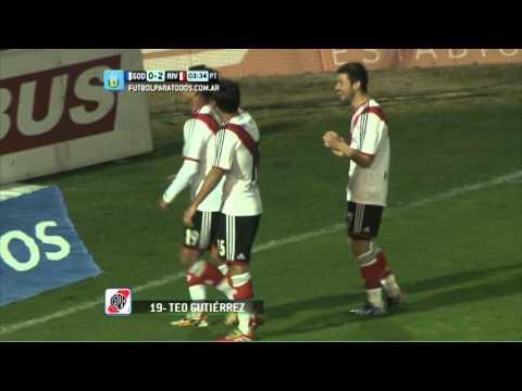 Gol de Gutiérrez. Godoy Cruz 0 - River 2. Fecha 3. Torneo Primera División 2014. FPT.