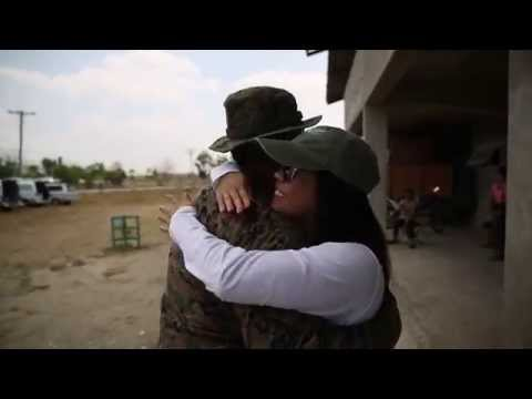 U.S. Marine reunites with his Filipino family in their country of heritage