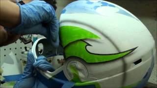 Brainshell - Insane custom airbrush paint on Cookie helmet