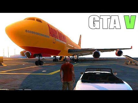 Grand Theft Auto V - How to get a Big plane. Military Base - Tanks and Fighter Jets [GTAV]