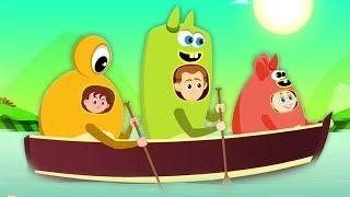 rangée rangée rangée votre bateau   comptine pour bébé   Preschool Song   Row Row Row Your Boat