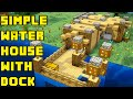 Minecraft: Simple Boat/Fishing Lake Water House/Base Tutorial Xbox/PE/PC/PS3/PS4