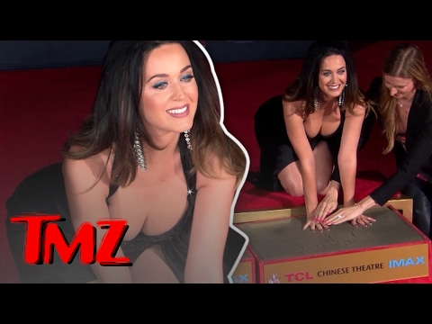 Katy Perry's boobs were on display at a handprint ceremony! | TMZ thumbnail