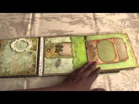 Scrapbooking  Mini Album Curio a'  la  Donna