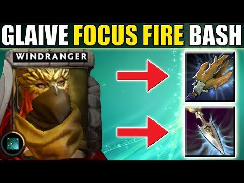 Focus Fire - Double Attack Modifier [Bash + Glaives] Dota 2 Ability Draft