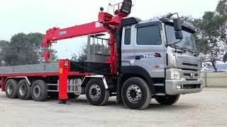Xe tải HYUNDAI TRAGO GOLD  gắn cẩu CSS 500 sức nâng 14,7 tấn